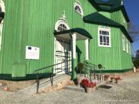 Cerkiew prawosławna w Trześciance podjazd