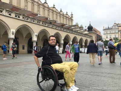 Rynek Główny w Krakowie na wózku