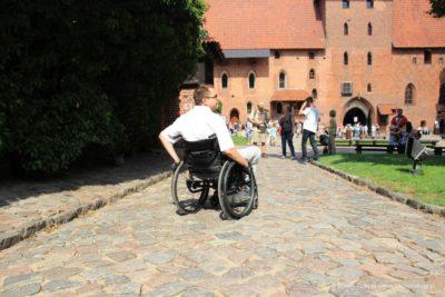 Zamek Krzyżacki w Malborku na wózku